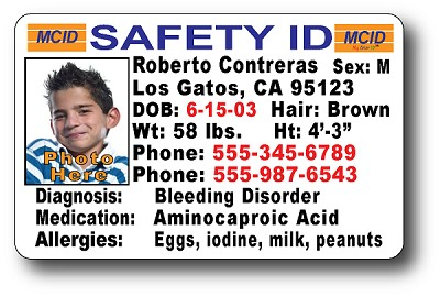 High Definition (HD) PVC Durable ID Cards (30 mm Thickness). Same durable material as a Drivers License - Click Photo for Larger View